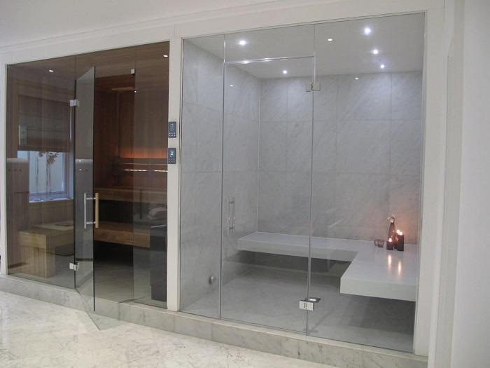 kích thước phòng tắm hơi